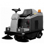 Pro Range Ride On Sweeper Twin Brushes