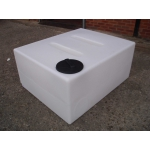 Flat 400 litre translucent baffled polythene water tank