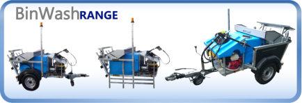 The Morclean wheelie bin wash machines